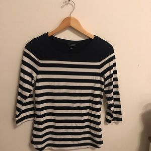 The Limited navy white striped top - never worn!
